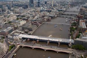 Solar photovoltaic (PV) panels on new Blackfriars bridge