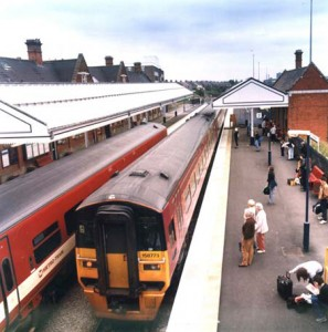 Station today with 1970s canopies